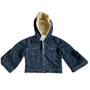 Levi's Made & Crafted Cropped Sherpa Hooded Jacket